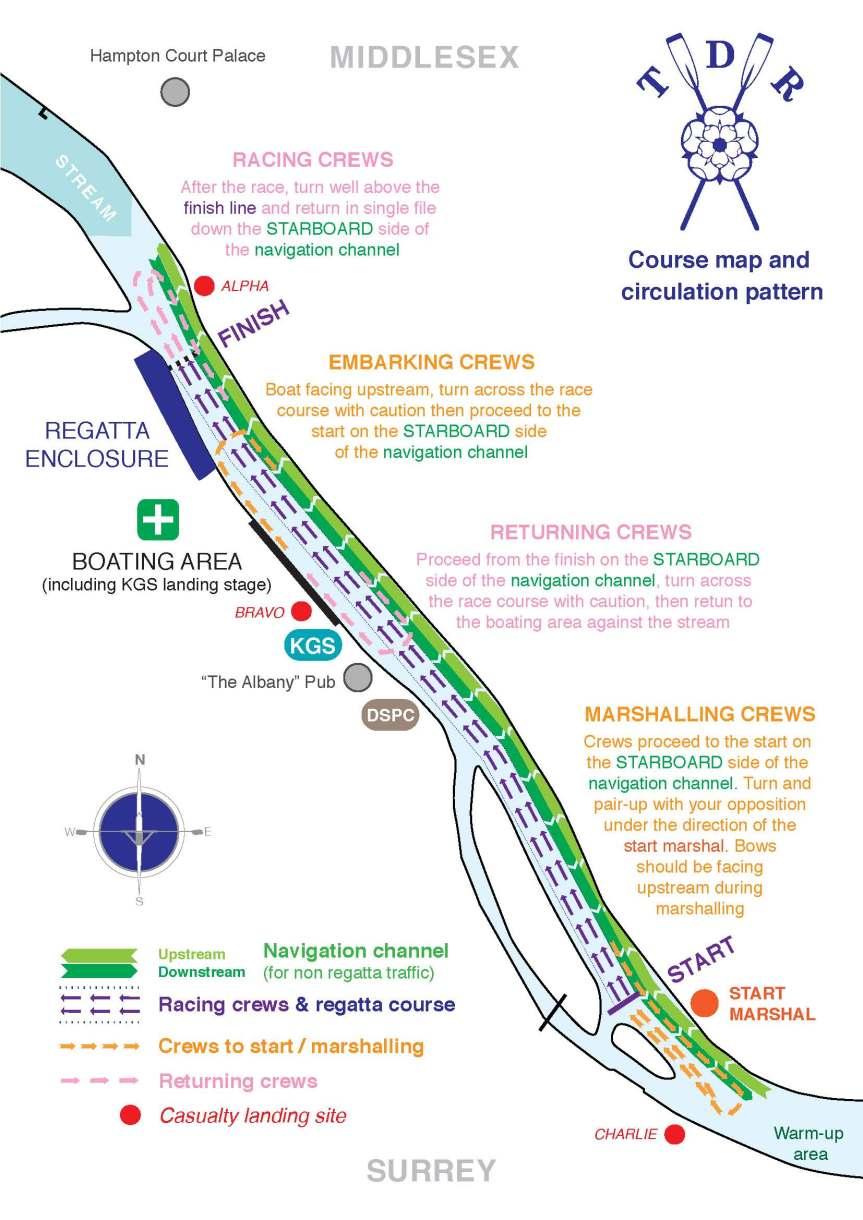 Thames Ditton Regatta course map